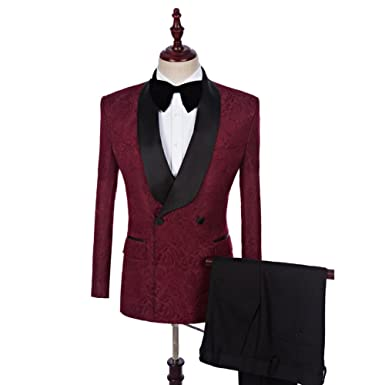Leader of the Beauty - Chaqueta de Traje - para Hombre Rojo ...
