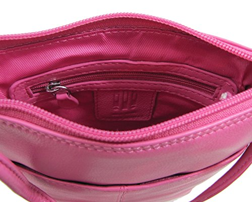 Leather New Toffee Crossbody ili York 6647 Pink Hot Sac Mini Flap AF66tqdwx