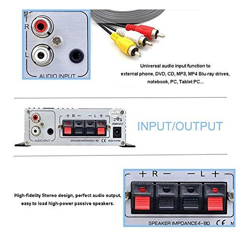 Lepy LP-2024A-HA LP-2024A+ Hi-Fi Audio Stereo Power Amplifier Car Amplifier, 3A Power Supply by Lepy (Image #2)