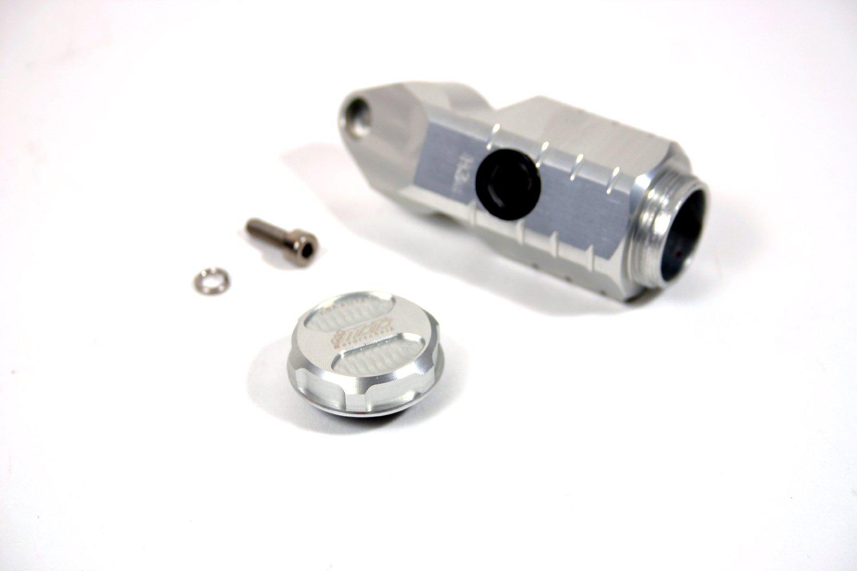 GSG Mototechnik ( ) 製 HONDA CBR 900 RR (SC44) 2000y'-2001y'モデル用 リア ブレーキ マスター一体型 リザーバー オイル タンク コンテナタイプ アルミ削り出し SILVER (銀色) アルマイト加工仕上げ   B00B7A0KC0