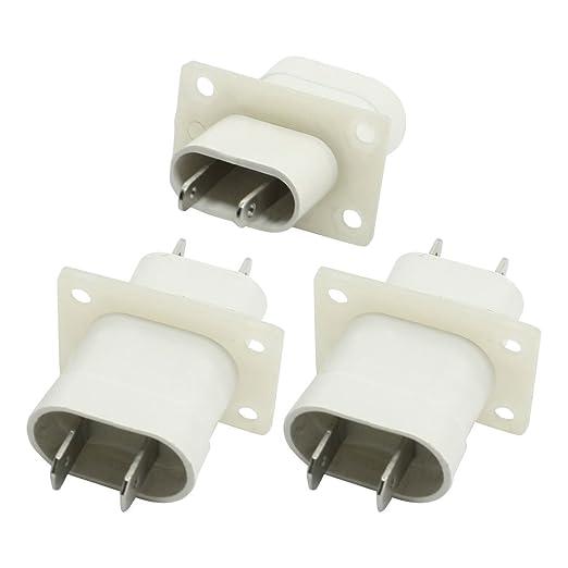 Adaptador de microondas magnetrón Filamento Pin Conector hembra 3 ...