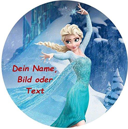 Tortenaufleger Elsa Action mit Ihrem gewünschten Text Ø 20 cm