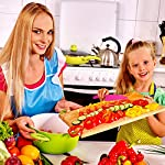 Jovitec 8 Pieces Kid Plastic Kitchen Knife Set, Children's Safe Cooking Chef Nylon Knives for Fruit, Bread, Cake, Salad, Lettuce Knife 16 Versatile kitchen tools for kids: this nylon knife set contains 5 pieces square knife, 3 pieces cusp shape knife, has different beautiful and bright colors Wide usage: knife can safely cut many types of fruit, lettuce, vegetables, bread, cheese, cake, carrots, zucchini, strawberries and more Characteristic: the nylon knife has serrated edges, this little chef set will help safeguard fingers from the dangers and risks of peaked metal knives
