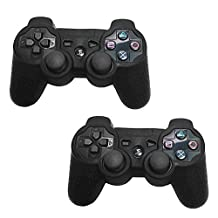 HDE Sony PS3 Controller Skin Silicone Grip Cover Case for Playstation 3 Dualshock Wireless Game Controllers 2 Pack (Black)