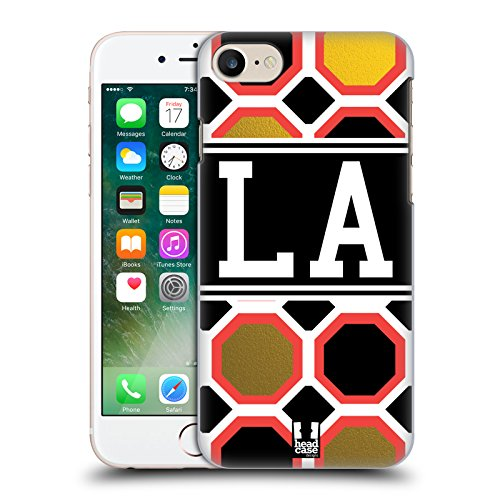 Head Case Designs Los Angeles Città Della Moda Cover Retro Rigida per Apple iPhone 7 / 8