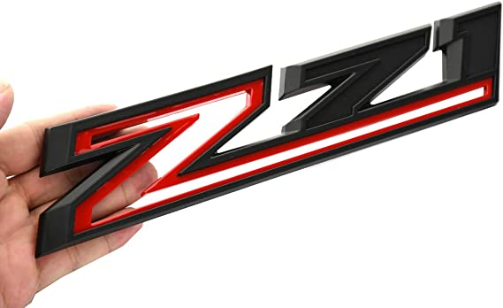 Black Red 2pcs New Z71 Emblems Replacement for 2019-2021 Silverado 1500 2500 3500 Decal Badge 84632695 Nameplate OEM