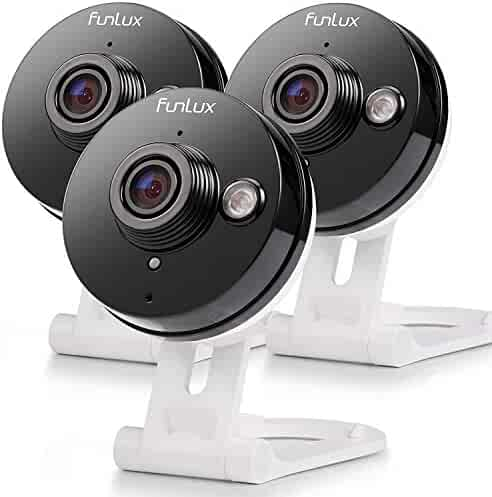 Funlux Wireless Two-Way Audio Home Security Camera & 6-Month Cloud Storage - All Inclusive Bundle - Smart HD WiFi IP Cameras with Night Vision
