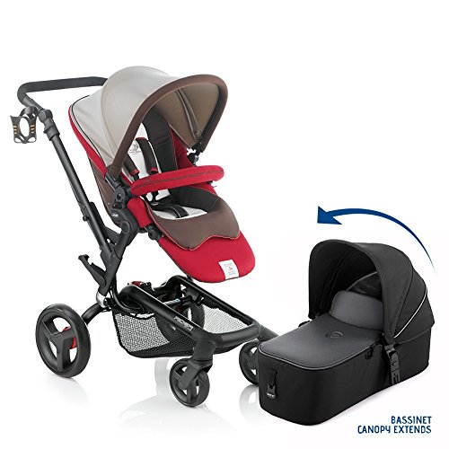 Jane Rider Premium Travel System Stroller - With Bassinet (Sand)