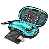 YLYYCC Jewelry Organizer Bag Portable Travel Jewelry Organizer Case Earring, Necklace Storage Pouch for Women (Green)