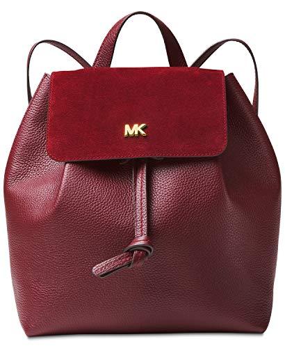 Michael Kors Junie Suede Flap Backpack (Oxblood)