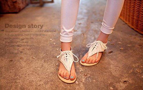 De Style Sandales Blanc Romain Femme AwZq0Hp