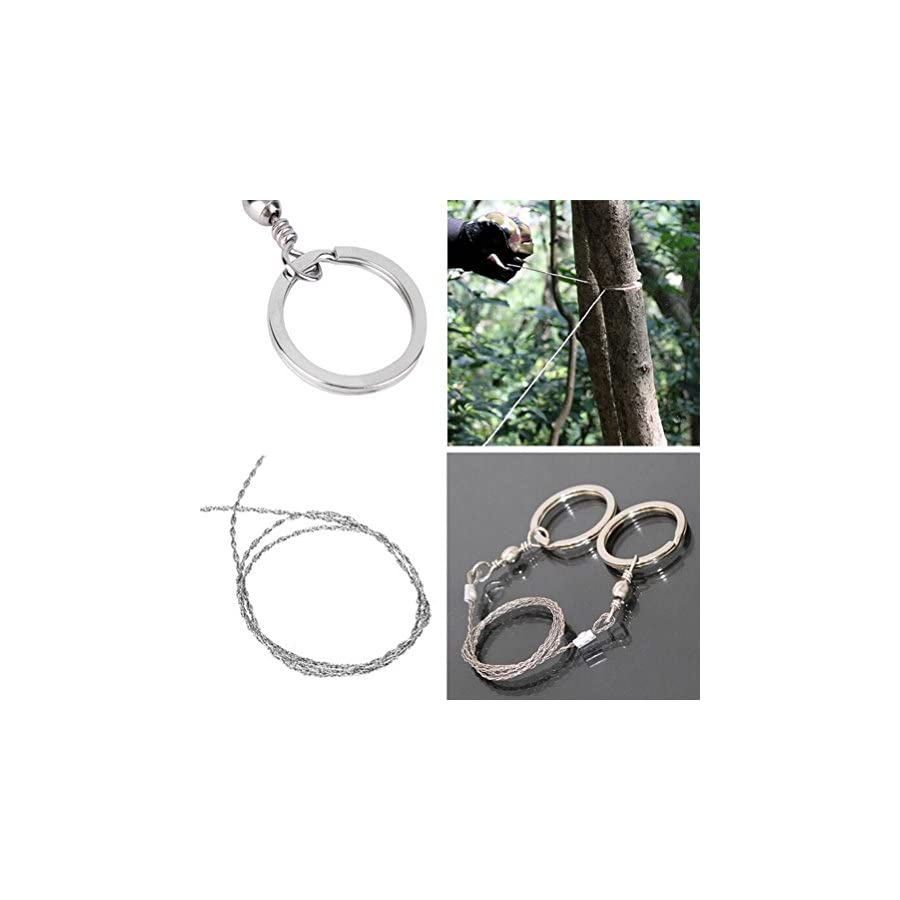 Happu store(TM) Emergency Survival Gear Steel Wire Saw Camping Hiking Hunting Climbing Gear