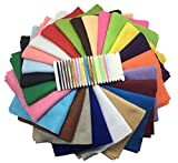 """Misscrafts 24pcs 8"""" x 12"""" (20cm x 30cm) 1.4mm Thick Acrylic Soft Felt Nonwoven Fabric Sheet Pack DIY Craft Patchwork Sewing Squares Assorted Colors for Hobby Crafter with a Free Thread"""