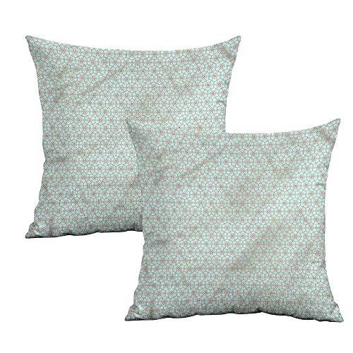 Khaki home Traditional Square Custom Pillowcase Oriental Mosaic Square Slip Pillowcase Cushion Cases Pillowcases for Sofa Bedroom Car W 14