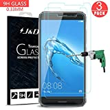 Huawei Nova Plus Screen Protector, J&D Glass Screen Protector [Tempered Glass] HD Clear Ballistic Glass Screen Protector for Huawei Nova Plus - Protect Screen from Drop and Scratch (3 Packs)
