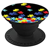 Brave New Look Autism Awareness Puzzle Pieces PopSockets Stand for Smartphones and Tablets