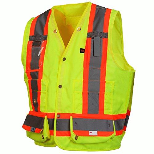 Pyramex RCMS2810SEX3 Reflective Vest Hi-Vis Lime with Ref...