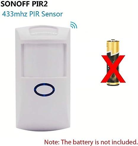 SONOFF PIR2 Allarme sensore di movimento Rivelatore a infrarossi senza fili Wall Mount Allarme doppio sensore di movimento a infrarossi per Smart Home Security Alarm System