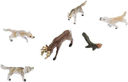 Woodland Scenics HO Scale Scenic Accents Figures//Animal Set Wildlife Standoff