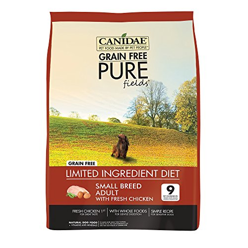 CANIDAE-Grain-Free-PURE-Fields-Small-Breed-Adult-Dog-Dry-Formula-with-Fresh-Chicken-12-lbs