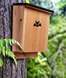 Bat House - Premium Quality Bat Shelter and Nesting Box - Hand Crafted Bat Home for a Dozen Bats - Control Pests Naturally