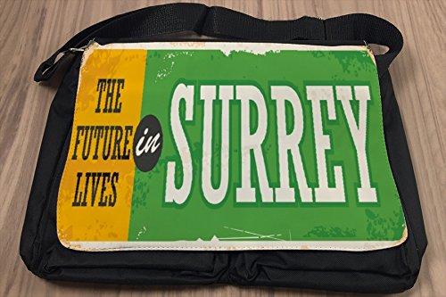 Borsa Tracolla Voglia Viaggiare Città Surrey Inghilterra Stampato