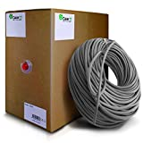 GearIT 1000 Feet Bulk Cat6 Ethernet Cable - Cat 6e 550Mhz 24AWG Full Copper Wire UTP Pull Box - In-Wall Rated (CM) Stranded Cat6, Gray