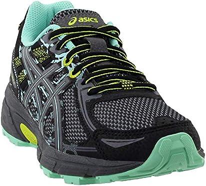 ASICS Gel-Venture 6 Women's Running Shoe, Black/Carbon/Neon Lime, 6 W US