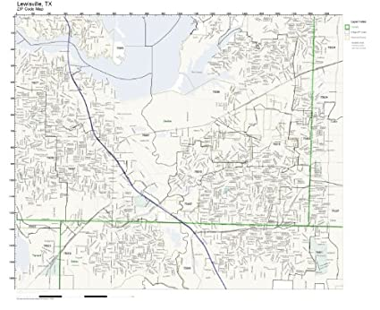 Lewisville Tx Zip Code Map.Amazon Com Zip Code Wall Map Of Lewisville Tx Zip Code Map