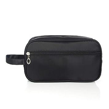 Men Toiletry Bag Nylon Travel Organizer Cosmetic Makeup Bag Men s Travel  Storage Container Cosmetic Makeup Organizer Shaving Case Black   Amazon.co.uk  ... 6d1cda451fbb6