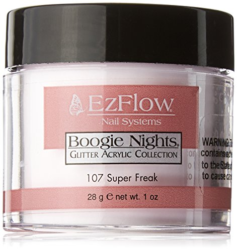 EZ Flow Dare To Be Dazzling Glitter Super Freak False Nails, 0.75 Ounce -