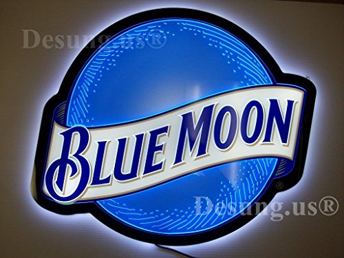 (Desung Revolutionary Blue Moon LED Neon Light Sign (Multiple Sizes Available) Vivid Printing Tech Design Decorate 3rd Generation LED Sign 14'' LE01S)