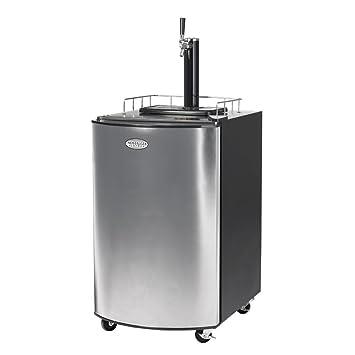 Nostalgia Electrics Kegorator™ Stainless Steel Dispensador de cerveza de barril - Tirador de cerveza