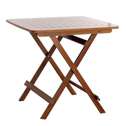 LFF - Mesa de Comedor Plegable (bambú, 80 x 80 x 76 cm): Amazon.es ...