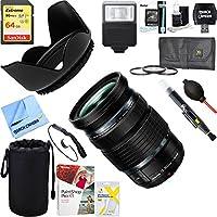 Olympus (V314080BU000) M.Zuiko Digital ED Weatherproof 12-100mm F4.0 IS PRO Lens + 64GB Ultimate Filter & Flash Photography Bundle