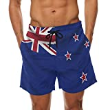 super3Dprinted New Zealand Flag Men's Swim Trunks Water Beach Shorts with Pockets