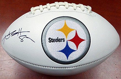 ANTONIO BROWN AUTOGRAPHED PITTSBURGH STEELERS WHITE LOGO FOOTBALL BECKETT BAS STOCK #121819 by Unknown