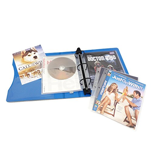 (Keepfiling DVD Storage Binder Stores Up to 20 DVDs, CDs, with DVD Cover Art/Title Page (Sapphire Blue))