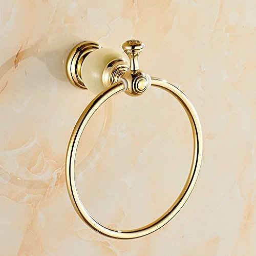 FACAIG Copper luxury cycle the marble of the gold towel ring bathroom towel hanging Bracket by FACAIG (Image #1)
