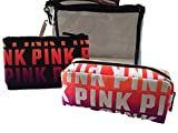 Victoria's Secret Pink Beauty Bag Trio Cosmetic Bag Set