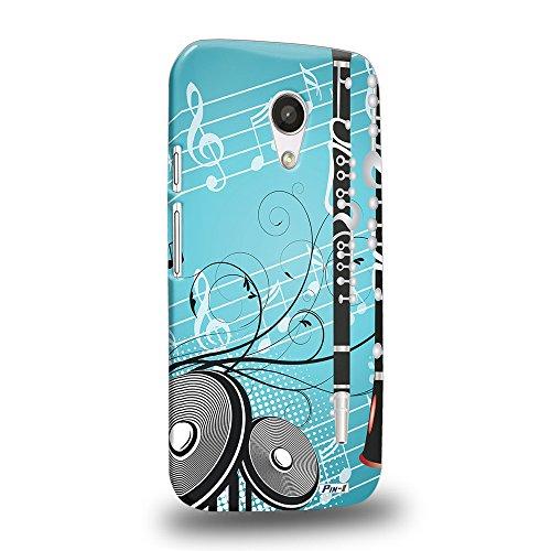 Pin-1 [Motorola Moto G (2nd Gen)] 3D Printed Snap-on Hard Case & Warranty Card - musical instrument design clarinet DSE0307 (2nd Clarinet)