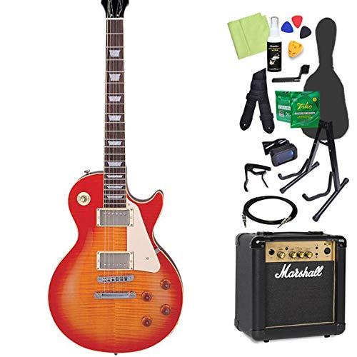 Burny SRLG55 Vintage Cherry Sunburst 初心者14点セット 【マーシャルアンプ付き】 レスポールタイプ エレキギター バーニー   B07GNG7G4L