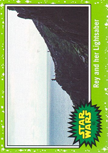 2017 Topps Star Wars Journey to The Last Jedi Green Starfield Card #93 Rey and her -