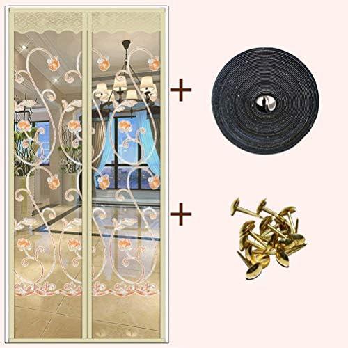 防蚊 メッシュ カーテン, 磁気 網戸 マグネット式 パーティション ハイエンド 換気 パンチ無料 暗号化 マジックテープ付き-n W:95cmxh:215cm