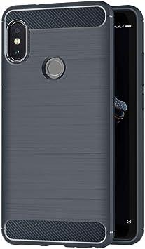 AICEK Funda Compatible Xiaomi Redmi Note 5, Azul Silicona Fundas para Xiaomi Redmi Note 5 Carcasa Redmi Note 5 Fibra de Carbono Funda Case (5,99 Pulgadas): Amazon.es: Electrónica