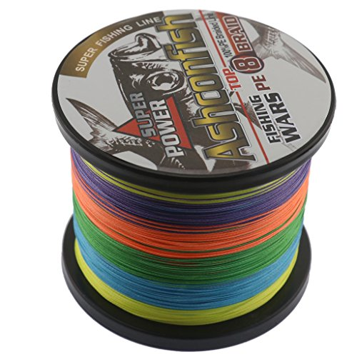 Ashconfish Braided Fishing Line-8 Strands Super Strong PE Fishing Wire 500M/546Yards-Abrasion Resistant Braided Lines-Incredible Superline-Zero Stretch-Superfine Diameter