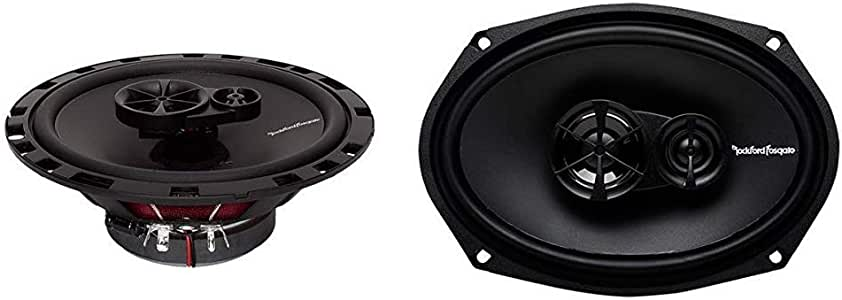 "Rockford Fosgate R165X3 Prime 6.5"" Full-Range 3-Way Coaxial Speaker (Pair) Bundle R169X3 Prime 6ǃ˘ x 9ǃ˘ 3-Way Full-Range Coaxial Speaker (Pair)"
