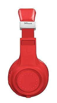 Trust Urban Dura - Auriculares inalámbricos con tecnología Bluetooth, para Llamadas telefónicas y música, Color Rojo: Amazon.es: Electrónica