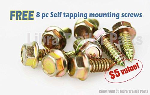Set of 2 5000 lb 30'' RV Trailer Stabilizer Leveling Scissor Jacks w/handle and socket - 26021 by Libra (Image #4)