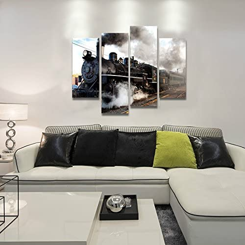 home, kitchen, wall art,  posters, prints 9 image Home For Art INC-Train with Gray Smoke in USA